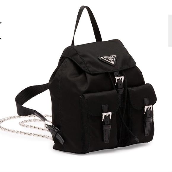a9c4a98b3bb1 PRADA Vela Mini Crossbody Backpack Bag